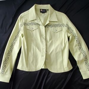 Denim Jeweled Jacket